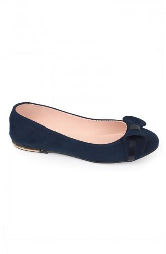 Navy Blue Women`s Flats 7511-1