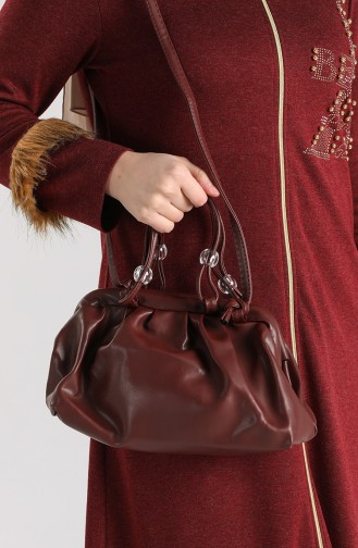 Claret Red Shoulder Bags 10710BO