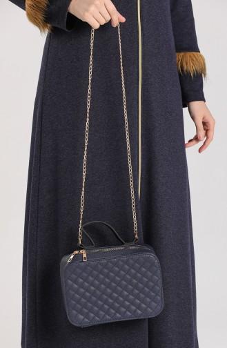 Navy Blue Shoulder Bags 10117-01