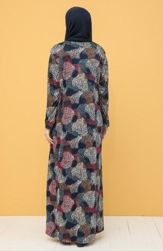 Habillé Hijab Bleu Marine 0104-01