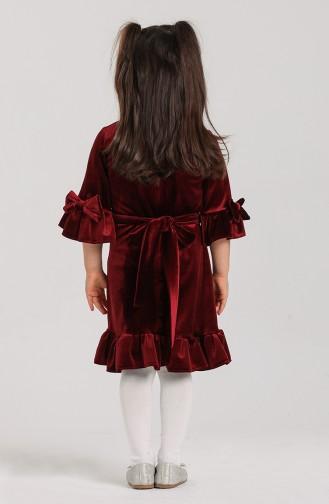 فساتين الاطفال أحمر كلاريت 2026-01