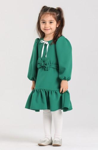 Green Children`s Dress 2031-01