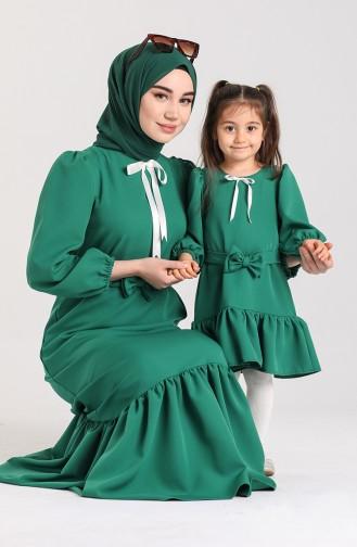 Green İslamitische Jurk 2030-01