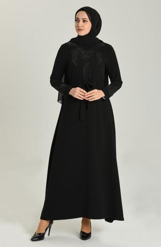 فساتين سهرة بتصميم اسلامي أسود 1185-01