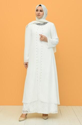 Plus Size Suit Evening Dress 3124-06 Ecru 3124-06