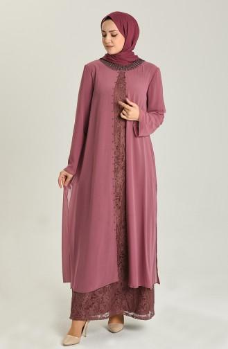 Plus Size Suit Evening Dress 3124-07 Dried Rose 3124-07