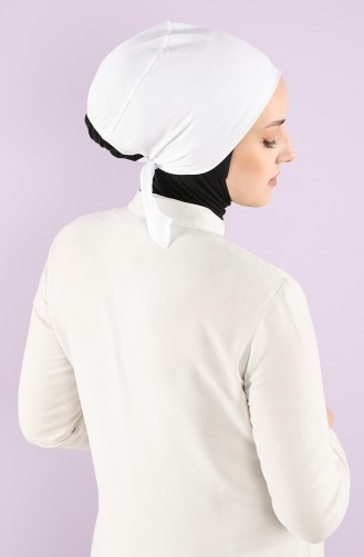 Sefamerve Cotton Non-Slippery Bonnet 0101-01 White 0101-01