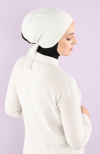 Sefamerve Cotton Non-Slippery Bonnet 0102-01 Cream 0102-01