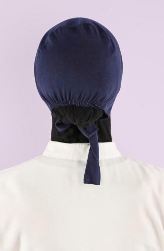 Rutschfester Baumwolle Bonnet 0104-01 Dunkelblau 0104-01