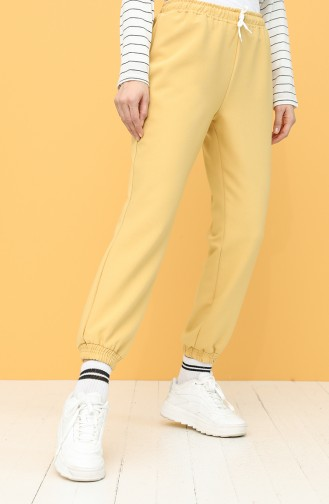 Joggers with Elastic waist 5172pnt-01 Saffron Color 5172PNT-01