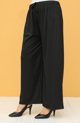 Piliseli Mevsimlik Pantolon 8220-01 Siyah