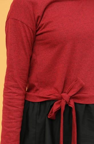 Garnili Bluz 3239-11 Bordo Siyah