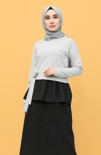 Gray Blouse 3239-10