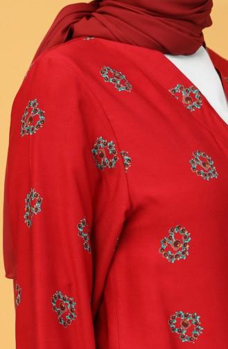 Claret red Praying Dress 1002A-01