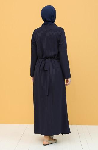 Navy Blue Praying Dress 1003-02