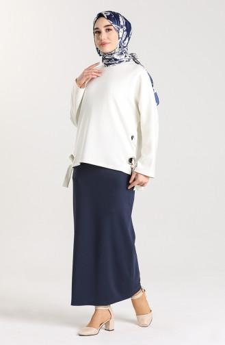 Jupe Bleu Marine 4002-02