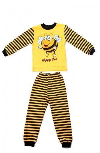 Çocuk Pijama Takımı 12501 Sarı 12501