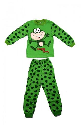 Ensemble de Pyjamas Bébé et Enfant Vert 12502