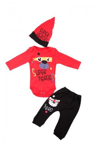 Ensemble de Pyjamas Bébé et Enfant Rouge 12600