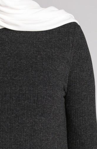 Fitilli Tunik Pantolon İkili Takım 5350-04 Siyah