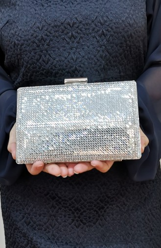 Silbergrau Portfolio Handtasche 335232-208