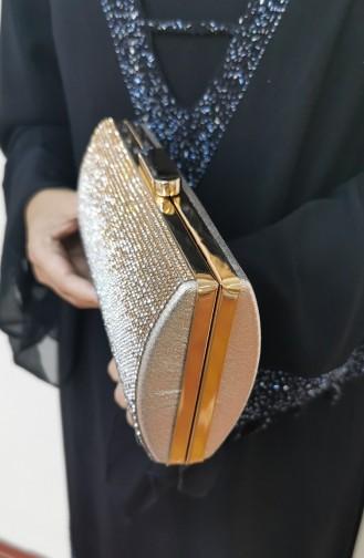 Gold Colour Portfolio Hand Bag 352124-207