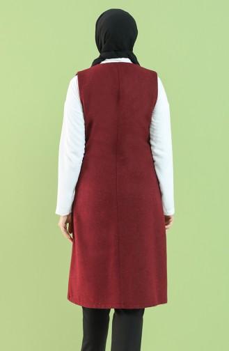 Claret red Gilet 2136-02