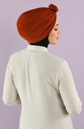 Bonnet Couleur brique 9017-15