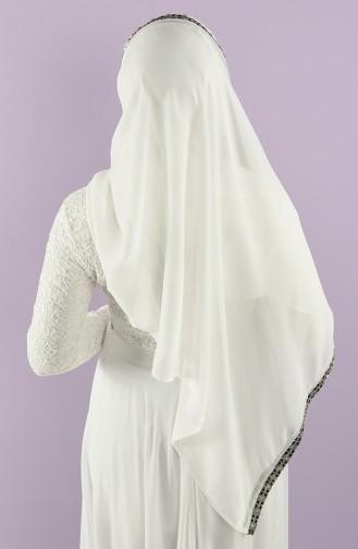 Schmutzig Weiß Praktischer Turban 0008-24