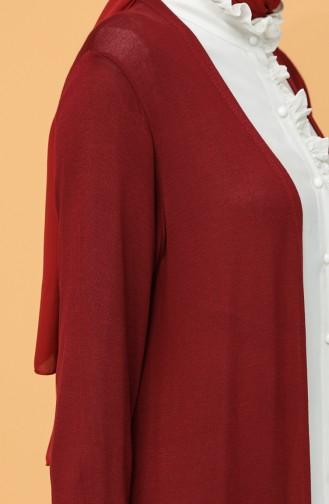 Claret red Vest 8102A-06