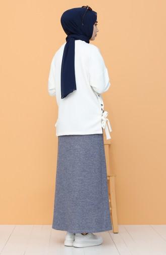 تنورة أزرق كحلي 4161-01