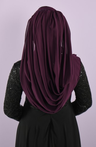 Purple Ready to wear Turban 008-04