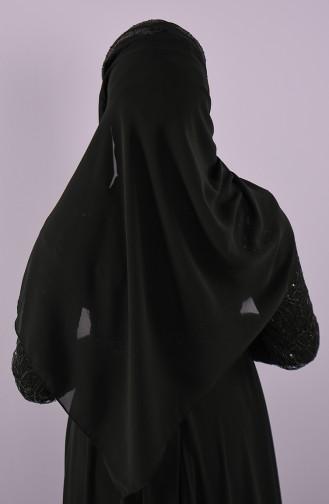 Schwarz Praktischer Turban 001-02