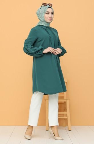 Smaragdgrün Tunikas 60085-02