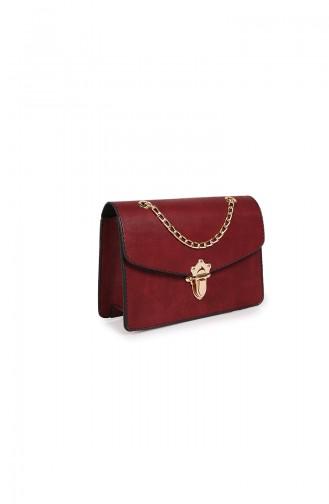 Claret red Shoulder Bag 216Z-03