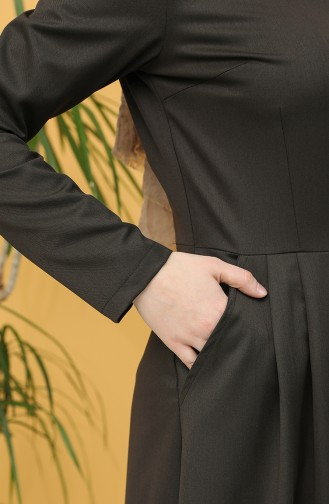فستان بُني 3246-02