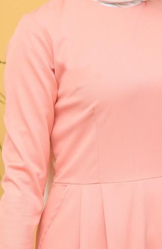 Robe Hijab Saumon 3246-04