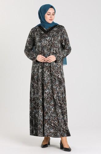 Turquoise İslamitische Jurk 0416-03