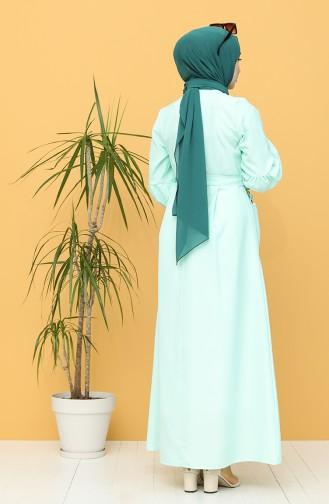فستان أخضر فاتح 21Y8236-01