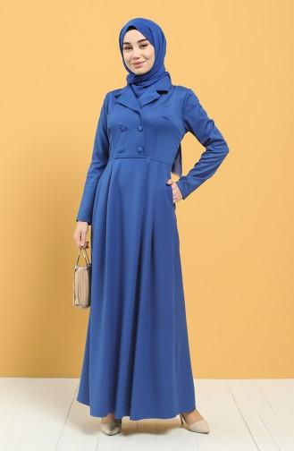 Saks-Blau Hijap Kleider 3245-02
