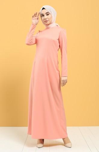 Lachsrosa Hijap Kleider 3248-02