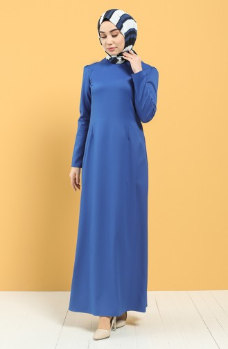Saks-Blau Hijap Kleider 3248-03