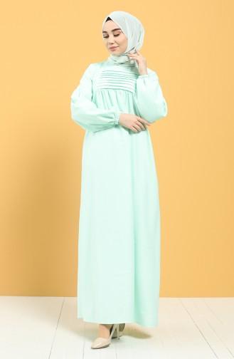 فستان أخضر فاتح 21Y8234-03