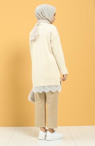 Cream Tuniek 8309-07