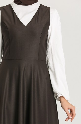 Robe Hijab Couleur Brun 3247-01