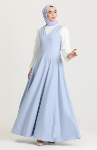 Robe Hijab Bleu Bébé 3247-05