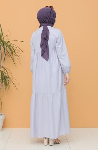 Eisblau Hijap Kleider 21Y8223-07