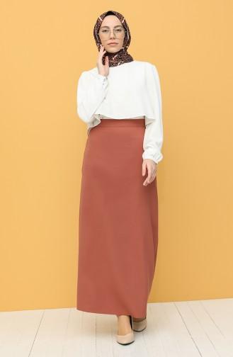 Brick Red Skirt 2223-04