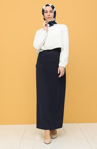 Navy Blue Skirt 2223-07
