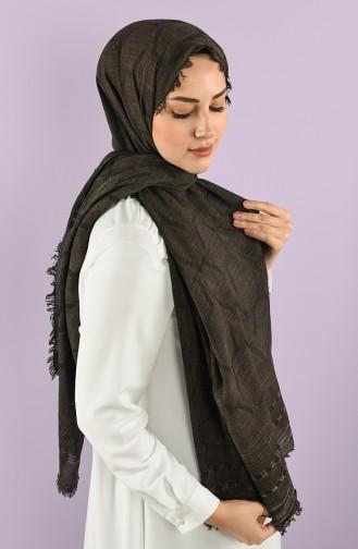 15087 Cotton Şal V1 15087 3Ywt 1 Koyu Kahve 8682126034606